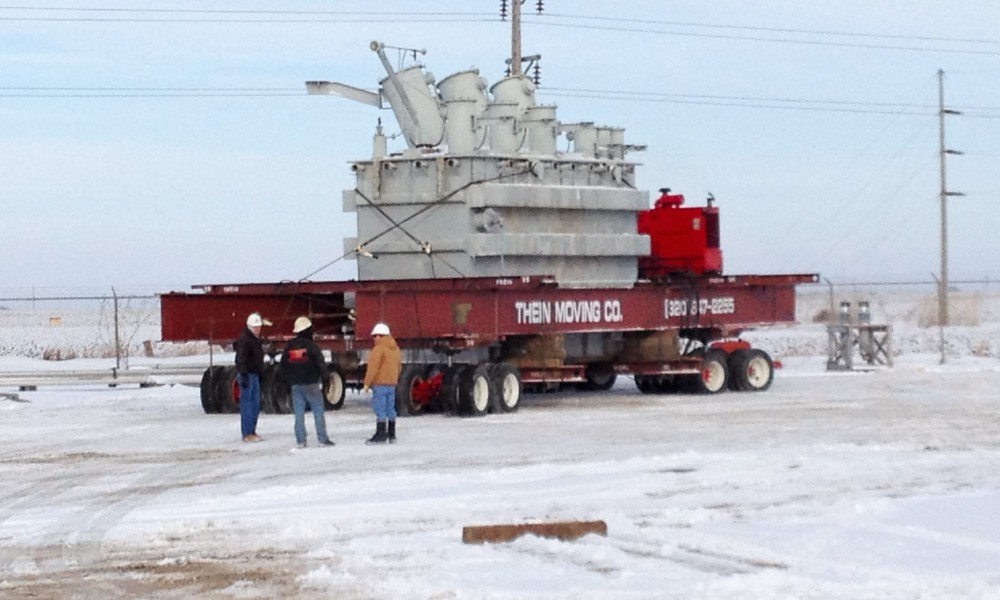 Moving a large transformer